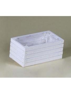 CASSETTA LEGNO X 2 VASI D.12  25x13h12 cm